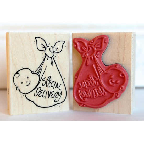 Special Delivery Rubber Stamp (New Baby Rubber Stamp)