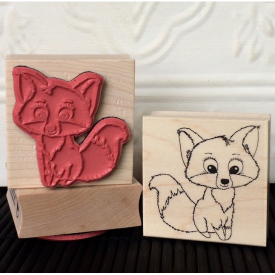 Foxy Fox Rubber Stamp