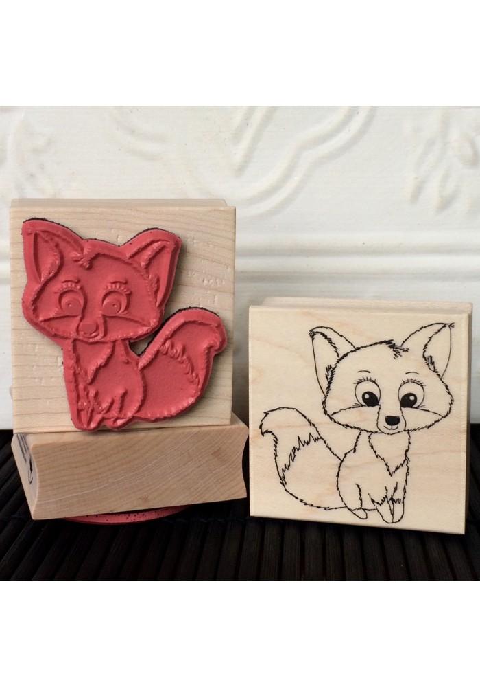 Foxy Fox Rubber Stamp