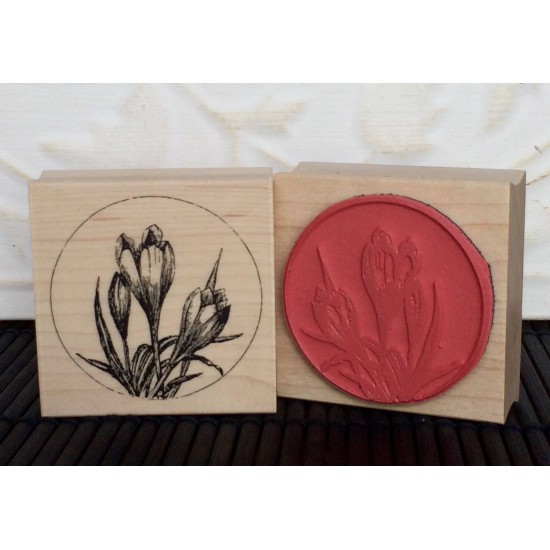 Crocus Rubber Stamp