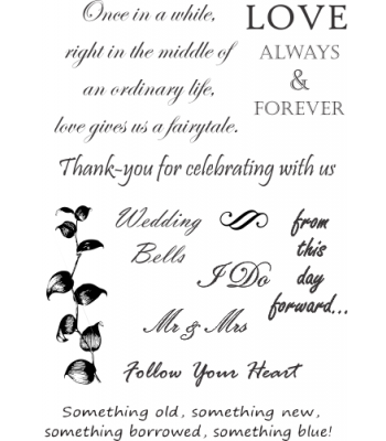 Wedding Sheet Rubber Stamp