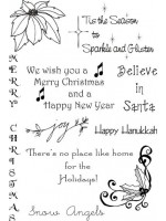 Christmas 2009 Sheet Rubber Stamp