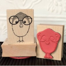 Nerd Bird Rubber Stamp