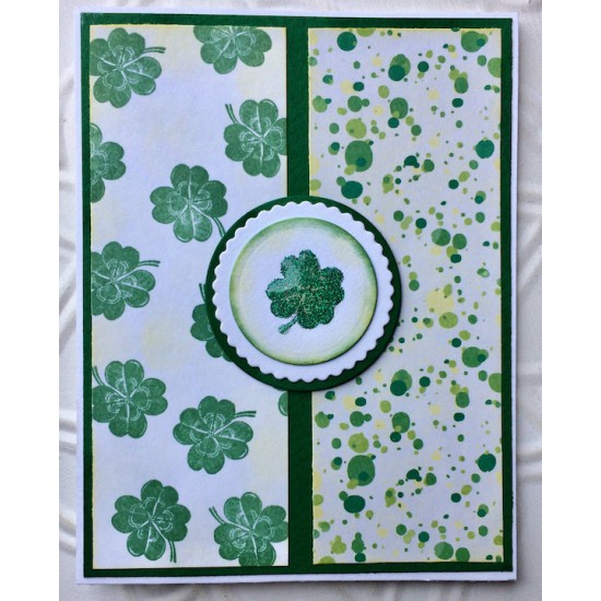 Lucky Four Leaf Clover Rubber Stamp