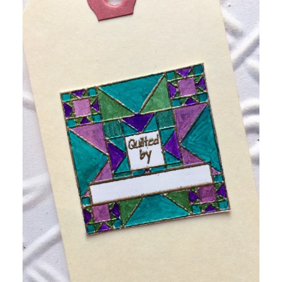 Quilted By Rubber Stamp
