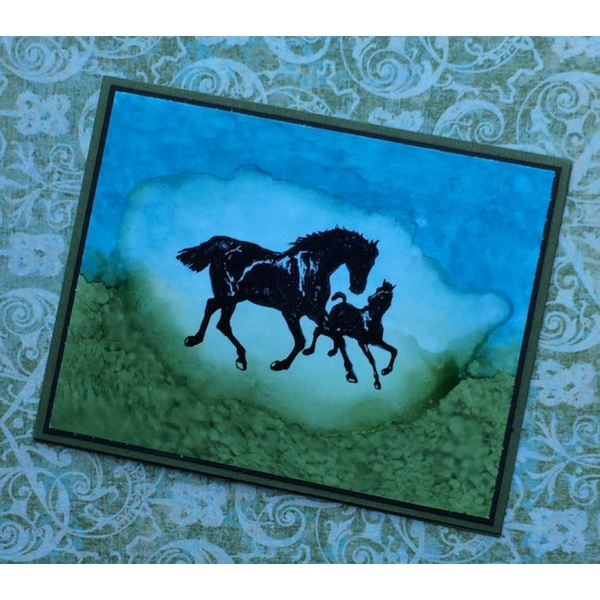 Horse and Pony Rubber Stamp