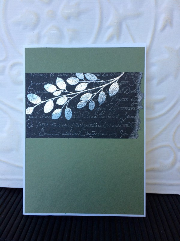 Silhouette Branch Rubber Stamp
