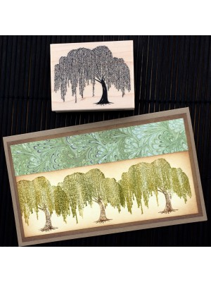 Weeping Willow Tree Rubber Stamp