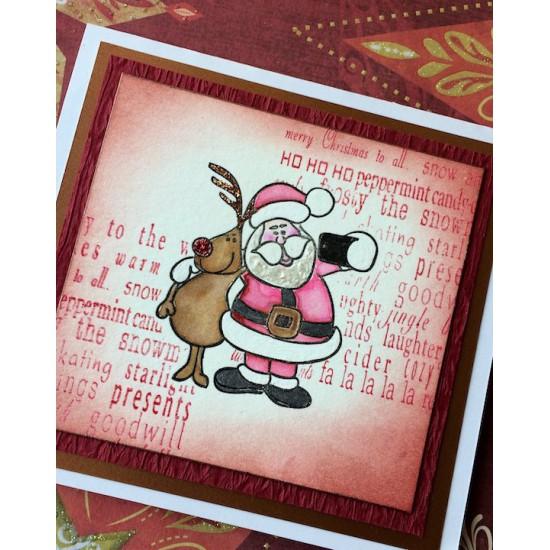 Selfie Santa Rubber Stamp