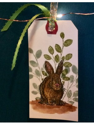Vintage Rabbit Rubber Stamp