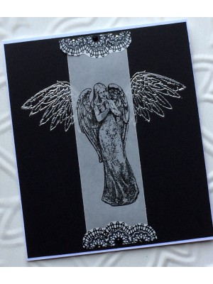 Classic Angel Rubber Stamp