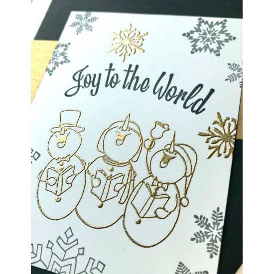 Joy to the World Rubber Stamp