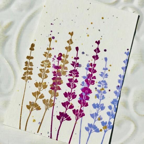 Silhouette Lavender Rubber Stamp