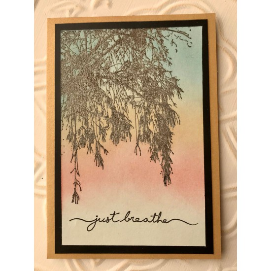 Just Breathe Rubber Stamp