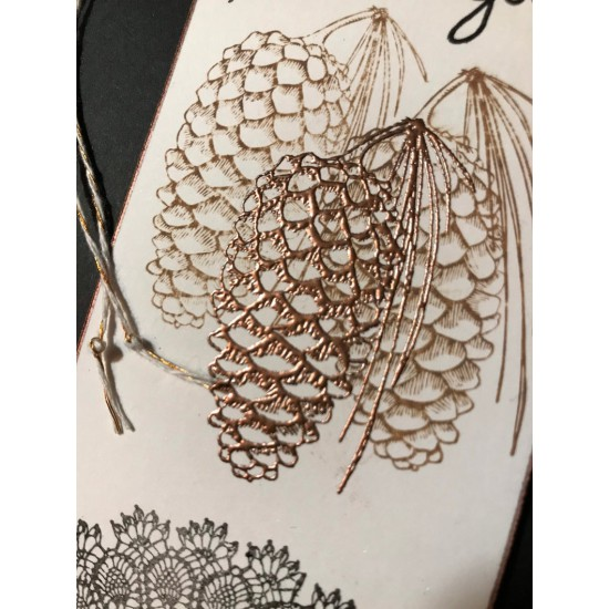 Long Pinecone Rubber Stamp
