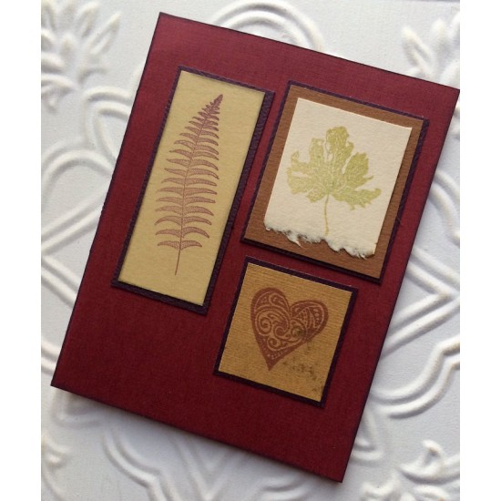 Autumn Maple Leaf Rubber Stamp