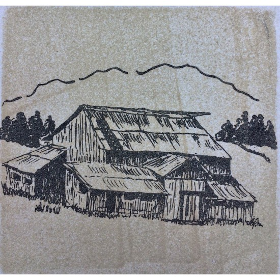 Ruckle Barn Rubber Stamp