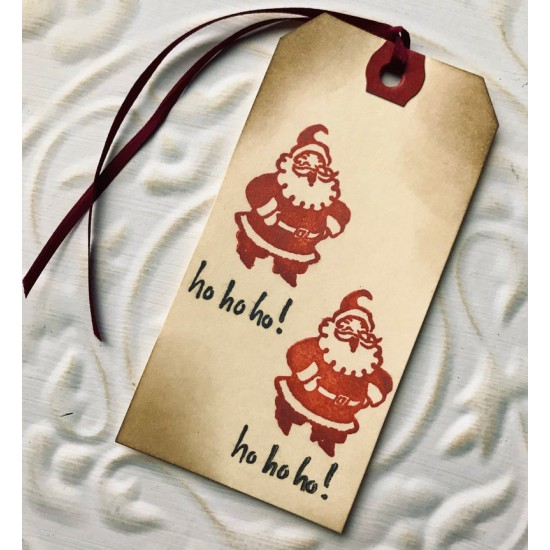 Antique Santa Rubber Stamp
