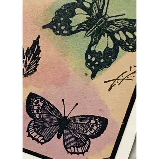 Small Butterfly Rubber Stamp