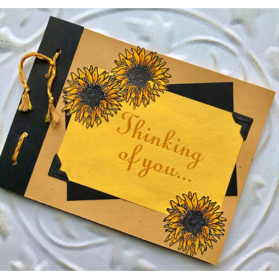 Sunflower Rubber Stamp
