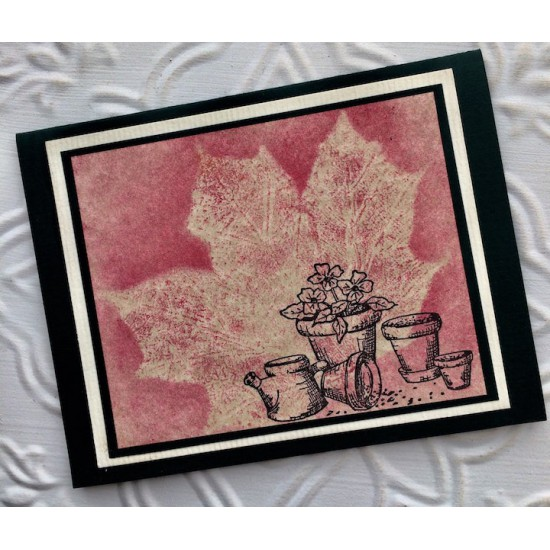 Flower Pots Rubber Stamp