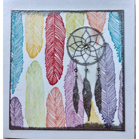 Dreamcatcher Rubber Stamp