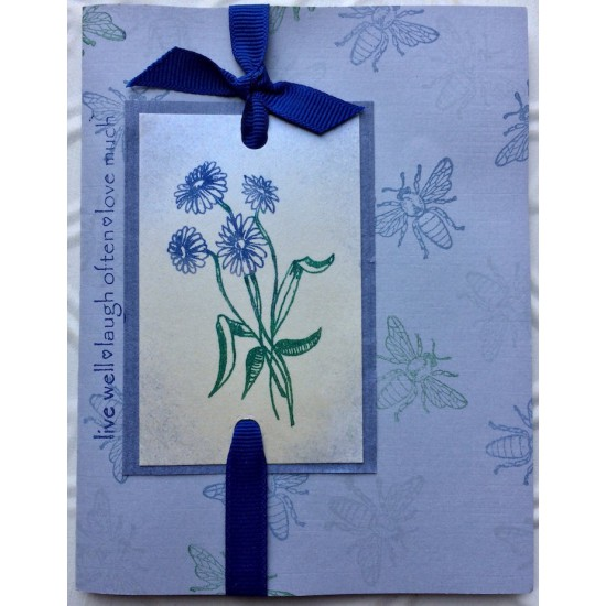 Aster Flowers Rubber Stamp