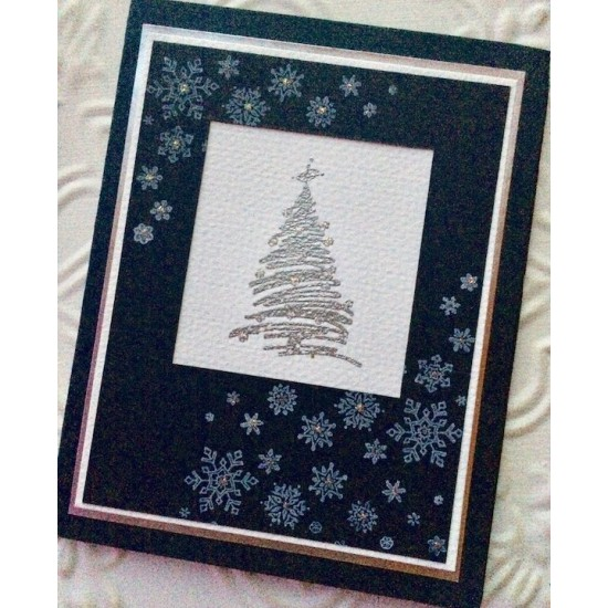 Corner Snowflakes Rubber Stamp