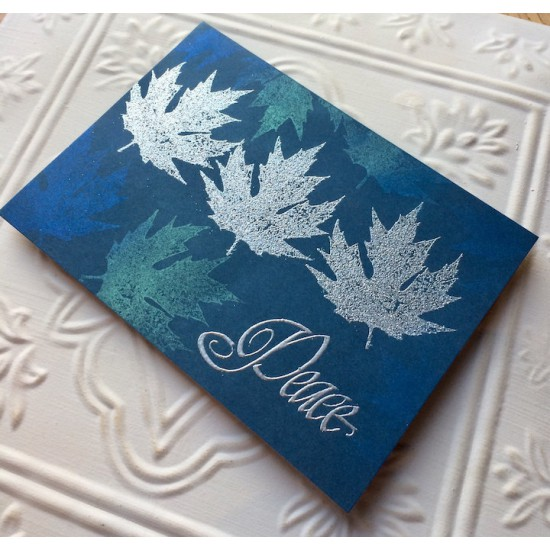 Quebec Maple Leaf Rubber Stamp