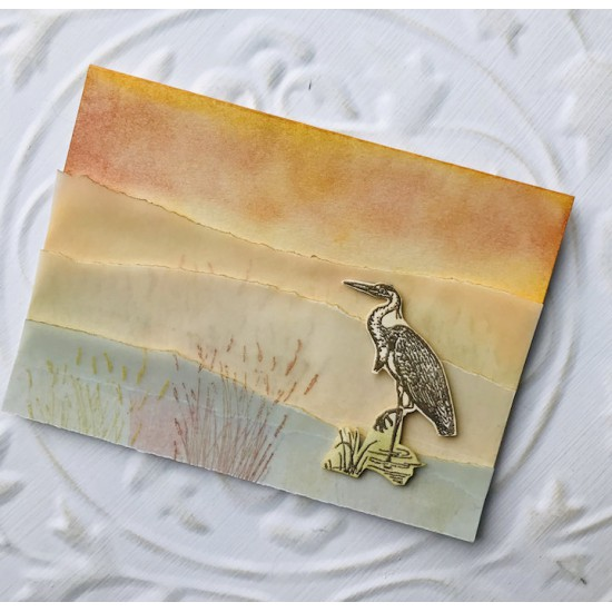 Great Blue Heron Rubber Stamp