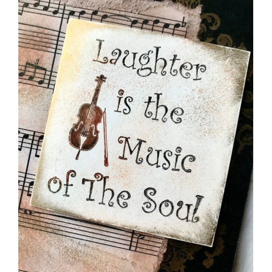 Laughter is the Music of the SoulRubber Stamp