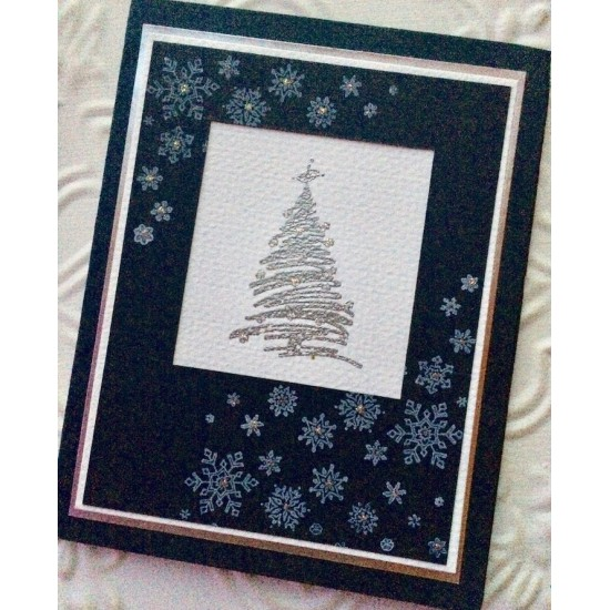 Christmas Tree with Star Rubber Stamp