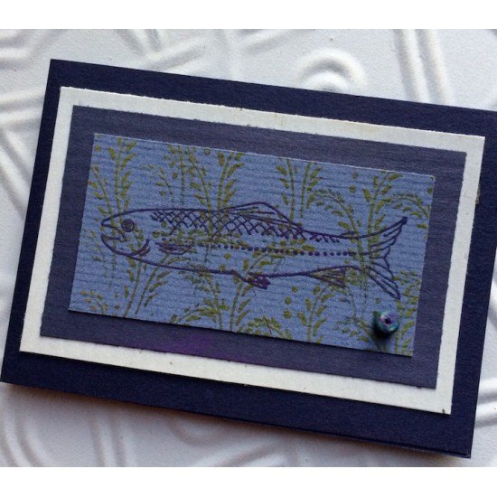 Salmon Rubber Stamp