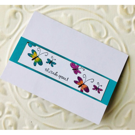 3 Wispy Butterflies Rubber Stamp