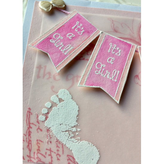 Bonnie's Babe Footprint Rubber Stamp