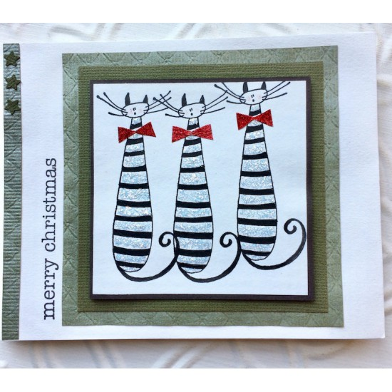 Tall Cat Rubber Stamp