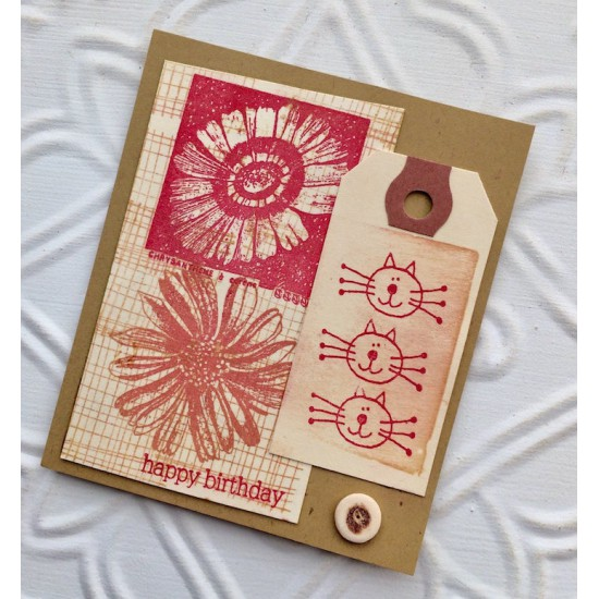 Chrysanthemum Flower Rubber Stamp