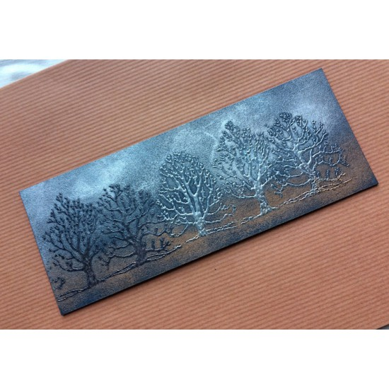 Winter Trees Rubber Stamp