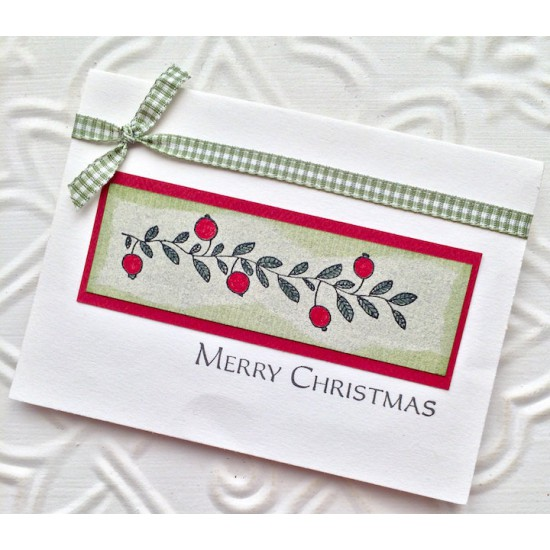 Berry Border Rubber Stamp