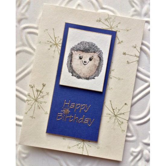 Happy Birthday with Sparkler Rubber Stamp