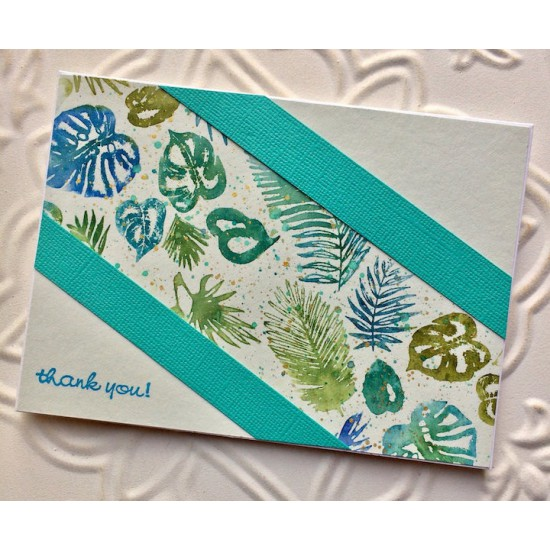 Palm Leaves Rubber Stamp