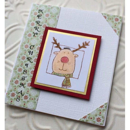 Rudolph the Reindeer Rubber Stamp