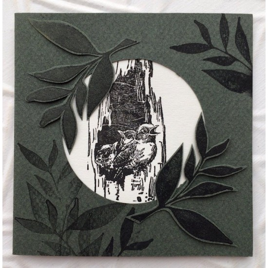 Solid Leaves Rubber Stamp