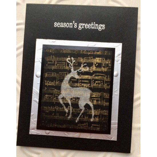 season's greetings Rubber Stamp