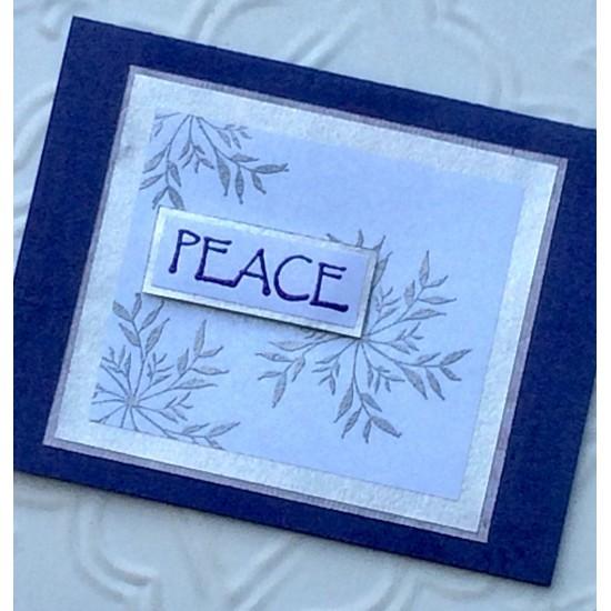 Botanical Snowflake Rubber Stamp