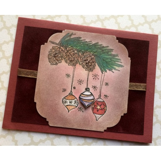 Em's Ornaments Rubber Stamp