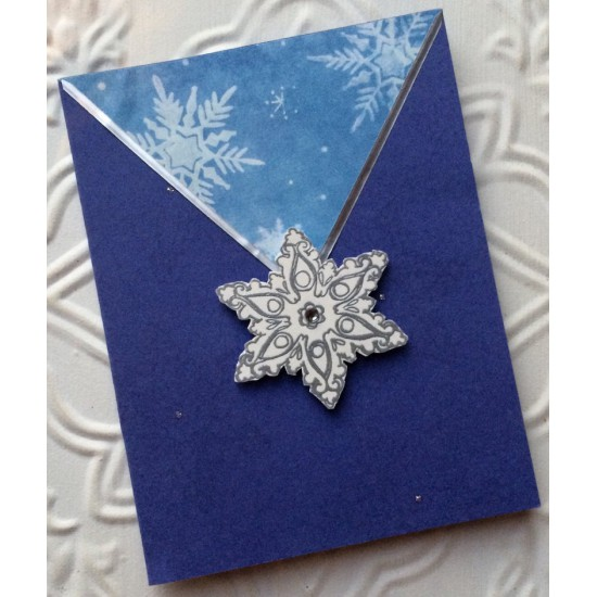 Old Snowflake Rubber Stamp