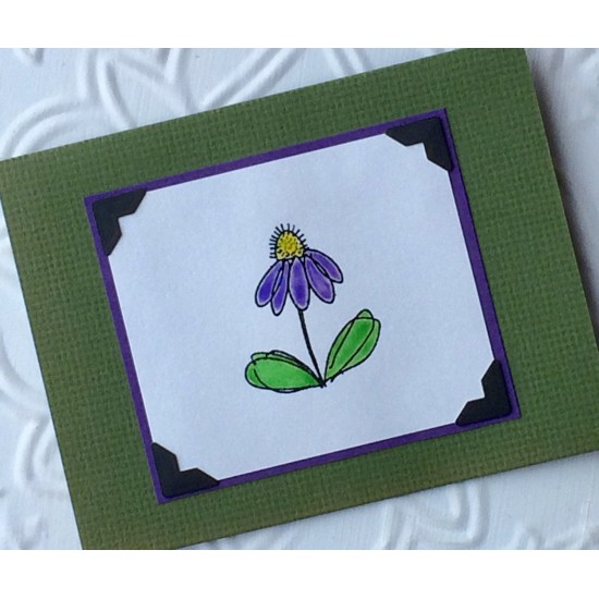 Bumble Bloom Rubber Stamp