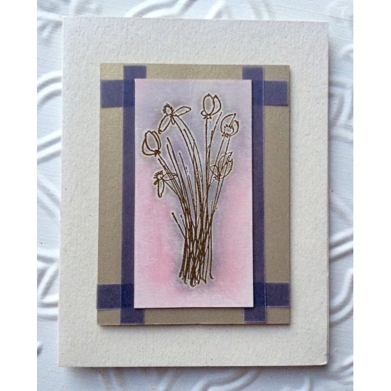 Wild Flowers Rubber Stamp