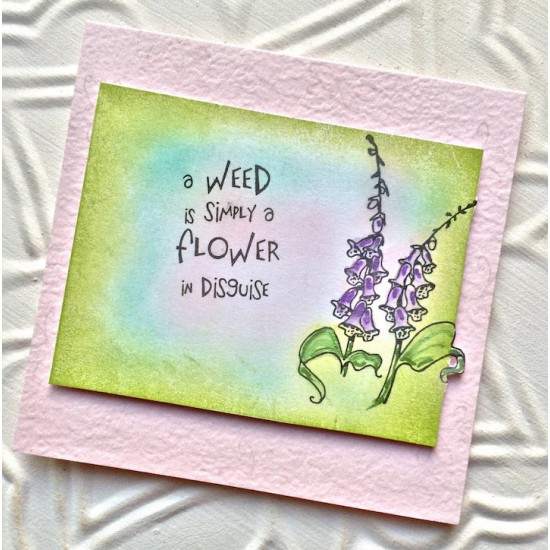 Foxglove Flowers Rubber Stamp